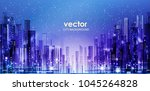 night city background  with... | Shutterstock .eps vector #1045264828
