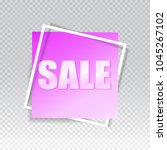 sale square banner. black... | Shutterstock .eps vector #1045267102