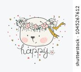 hand drawn vector illustration... | Shutterstock .eps vector #1045267612