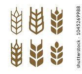wheat set of icons  wheat grain ... | Shutterstock .eps vector #1045269988