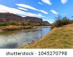 the rio grande river on the... | Shutterstock . vector #1045270798