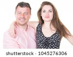 father proud of teenager beauty ... | Shutterstock . vector #1045276306