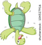 Happy Turtle Cartoon head spinning