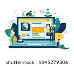vector colorful illustration of ... | Shutterstock .eps vector #1045279306