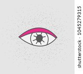 hand drawn eye. stickers patch. ...   Shutterstock .eps vector #1045279315