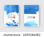 elegant brochure template... | Shutterstock .eps vector #1045286482