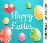 happy easter design kids... | Shutterstock .eps vector #1045287985