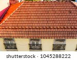 red roofs of lisbon  portugal... | Shutterstock . vector #1045288222
