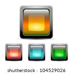 vector glass square buttons | Shutterstock .eps vector #104529026