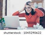 modern technology financier... | Shutterstock . vector #1045290622