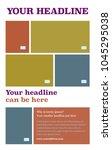 poster vector layout template... | Shutterstock .eps vector #1045295038