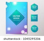 medical banner with... | Shutterstock .eps vector #1045295206