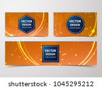 medical banner with... | Shutterstock .eps vector #1045295212