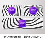 linear banner with... | Shutterstock .eps vector #1045295242