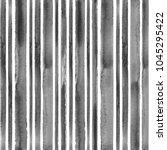 watercolor stripe black and... | Shutterstock . vector #1045295422