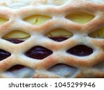 macro photo of pie with apple... | Shutterstock . vector #1045299946