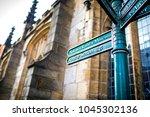 directional tourist information ... | Shutterstock . vector #1045302136