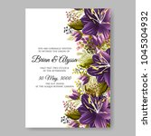 wedding invitation aloha... | Shutterstock .eps vector #1045304932