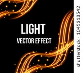 light effect with glowing gold...   Shutterstock .eps vector #1045313542