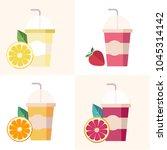juice vector design | Shutterstock .eps vector #1045314142
