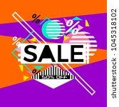 sale banner design vector.... | Shutterstock .eps vector #1045318102