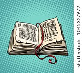 open old book with text  fairy... | Shutterstock .eps vector #1045327972