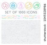 set of 1000 isolated minimal...   Shutterstock .eps vector #1045328986
