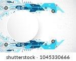 vector illustration  hi tech...   Shutterstock .eps vector #1045330666
