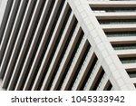 parallel rows of windows. tilt... | Shutterstock . vector #1045333942