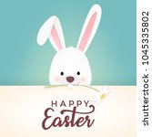 happy easter vector design with ... | Shutterstock .eps vector #1045335802