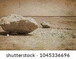 old photo beautiful seashore... | Shutterstock . vector #1045336696