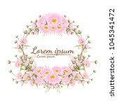beautiful flower frame vector... | Shutterstock .eps vector #1045341472
