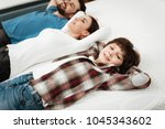 young beautiful couple with... | Shutterstock . vector #1045343602