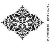 vector vintage baroque card.... | Shutterstock .eps vector #1045346752