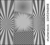 comic book monochrome... | Shutterstock .eps vector #1045346848