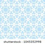 cute pastel vector geometric... | Shutterstock .eps vector #1045352998