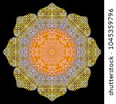 Gold Mandala Texture With...