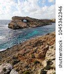 comino island blue lagoon....   Shutterstock . vector #1045362346