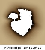 hole torn in ripped paper with... | Shutterstock .eps vector #1045368418