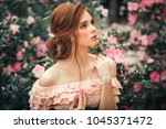 close up portrait of a ... | Shutterstock . vector #1045371472