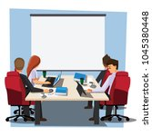 business people having board... | Shutterstock .eps vector #1045380448