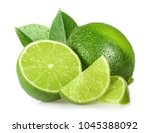 lime isolated on white... | Shutterstock . vector #1045388092
