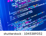 website programming code.... | Shutterstock . vector #1045389352