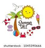 seasonal weather summer | Shutterstock .eps vector #1045390666