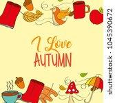 seasonal weather autumn | Shutterstock .eps vector #1045390672