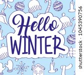 seasonal weather winter | Shutterstock .eps vector #1045390756
