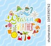 season weather card | Shutterstock .eps vector #1045390762