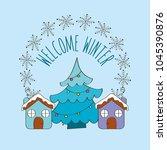 seasonal weather winter | Shutterstock .eps vector #1045390876