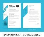 creative cv   resume template...   Shutterstock .eps vector #1045392052