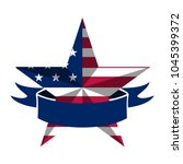 star shape with american flag | Shutterstock .eps vector #1045399372